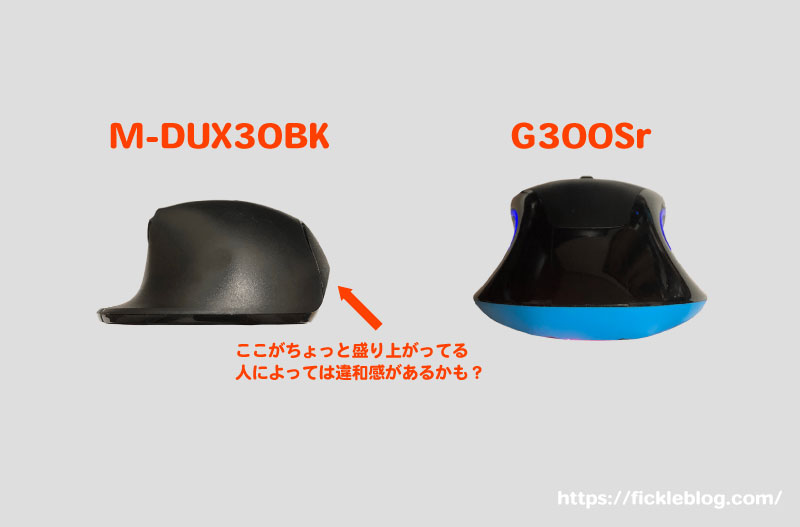 M-DUX30BKの出っ張り